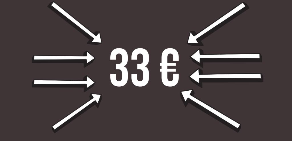 33 euros prix fléché