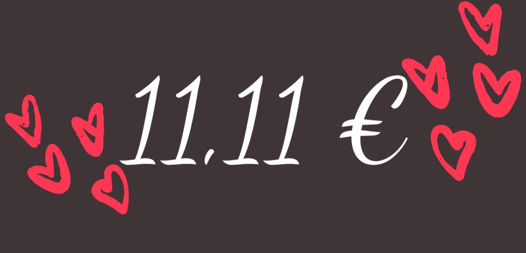 11, 11 euros
